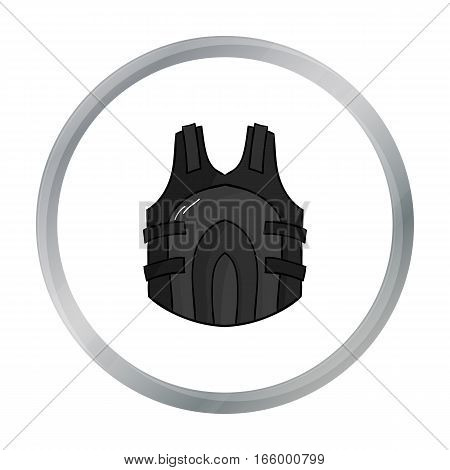 Paintball vest icon in cartoon design isolated on white background. Paintball symbol stock vector illustration. - stock vector