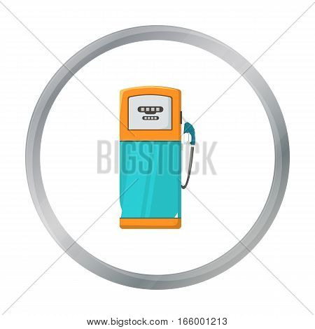 Fuel dispencer icon in cartoon style isolated on white background. Oil industry symbol vector illustration. - stock vector