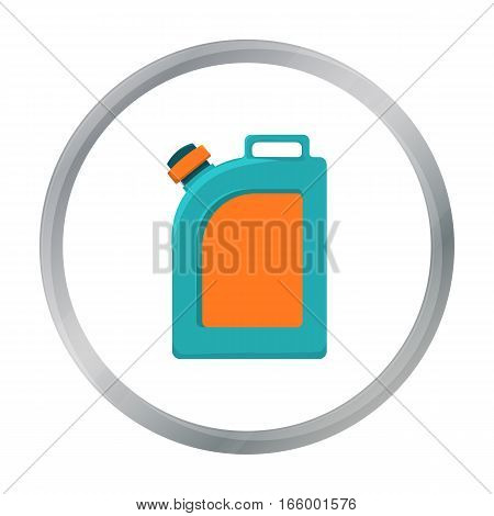 Oil jerrycan icon in cartoon style isolated on white background. Oil industry symbol vector illustration. - stock vector