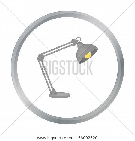 Balanced-arm lamp icon in cartoon style isolated on white background. Office furniture and interior symbol vector illustration. - stock vector
