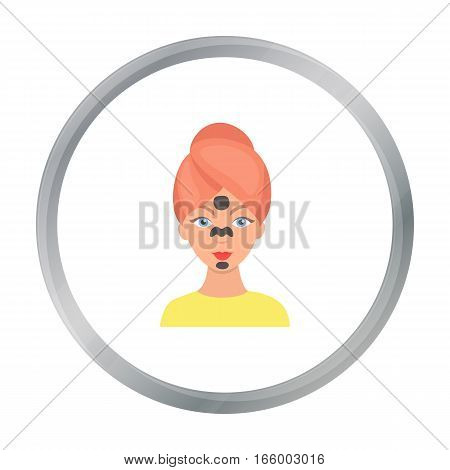 Facial mask icon in cartoon style isolated on white background. Skin care symbol vector illustration.