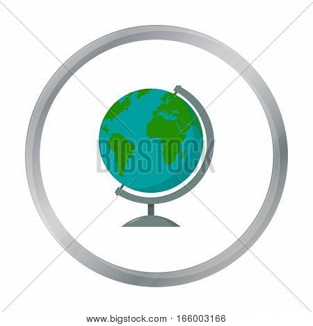 Globe icon cartoon. Single education icon vector