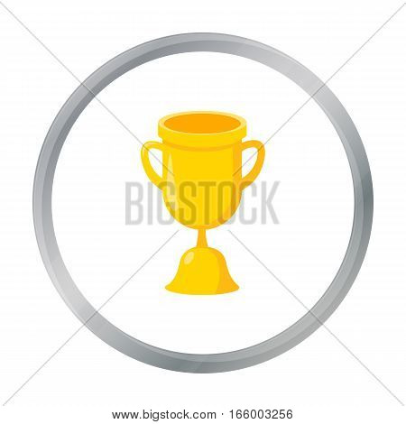 Goblet icon cartoon. Single education icon vector
