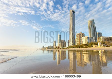 Surfers Paradise skyline on the Gold Coast, Queensland, Australia