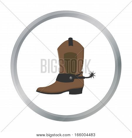 Cowboy boot icon cartoon. Singe western icon from the wild west cartoon.