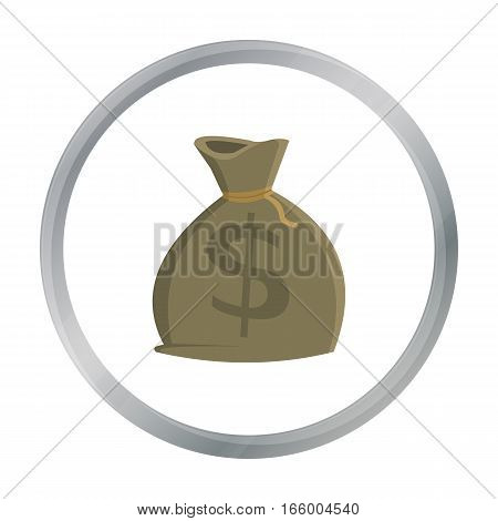 Money bag icon cartoon. Singe western icon from the wild west cartoon. - stock vector