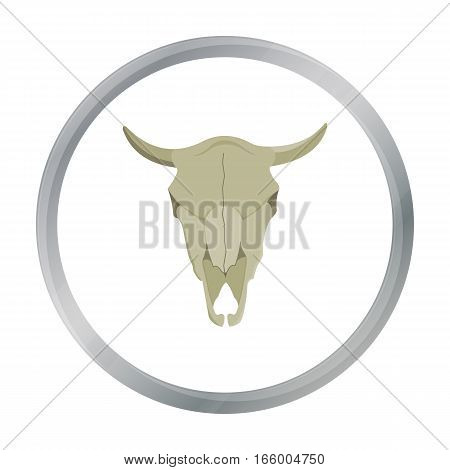 Bull skull icon cartoon. Singe western icon from the wild west cartoon.