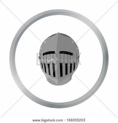 Medieval helmet icon cartoon.  stock vector