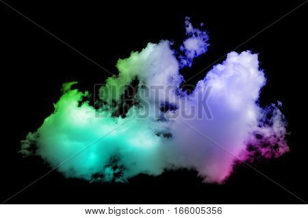 Colorful Cloud On The Black Background
