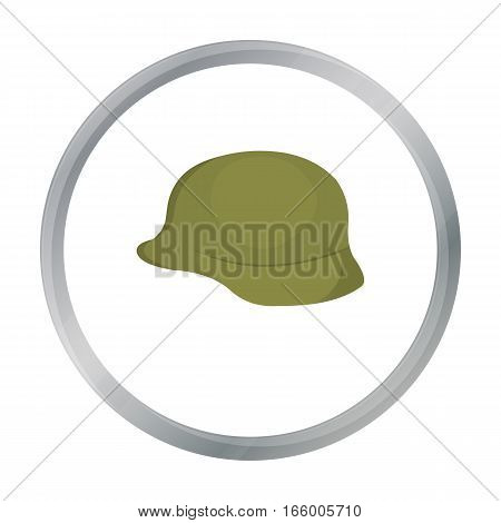 Soldier helmet military icon cartoon. Single weapon icon from the big ammunition, arms cartoon.