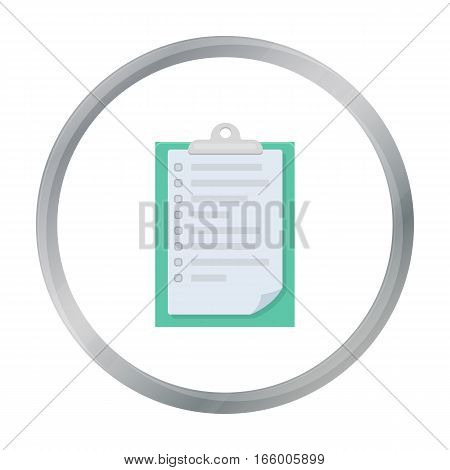 Veterinary pet health card icon in cartoon design isolated on white background. Veterinary clinic symbol stock vector illustration. - stock vector