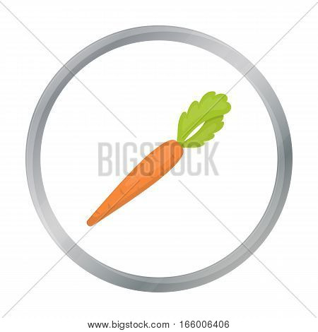 Carrot icon cartoon. Singe vegetables icon from the eco food cartoon.