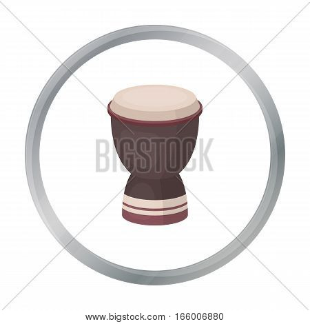 Goblet drum icon in cartoon style isolated on white background. Turkey symbol vector illustration.