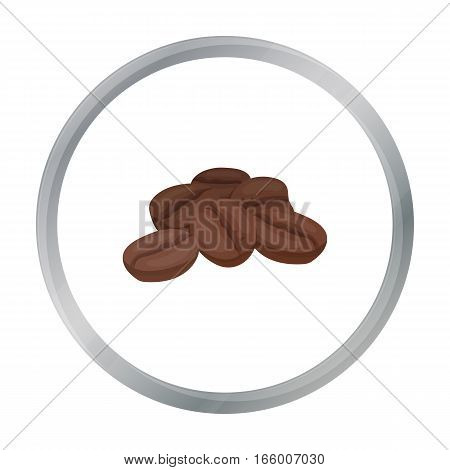 Coffee beans icon in cartoon style isolated on white background. Turkey symbol vector illustration.