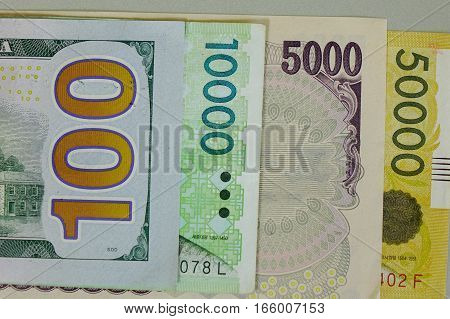 Many Kind Of Banknotes - Close Up