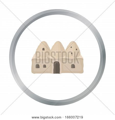 Beehive house icon in cartoon style isolated on white background. Turkey symbol vector illustration. - stock vector