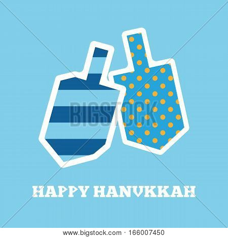 Vector image of hanukkah dreidels with different patterns.