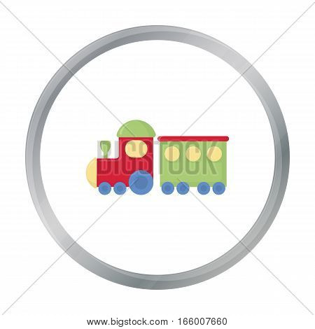 Locomotive cartoon icon. Illustration for web and mobile.