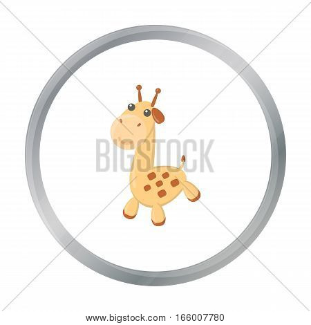 Giraffe cartoon icon. Illustration for web and mobile.
