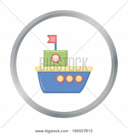 Ship cartoon icon. Illustration for web and mobile.