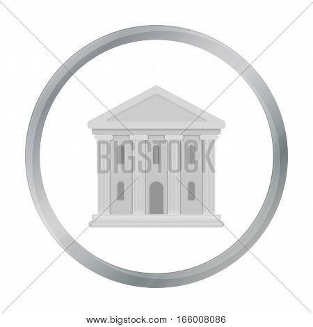 Theatre building icon in cartoon style isolated on white background. Theater symbol vector illustration
