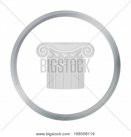 Column icon in cartoon style isolated on white background. Theater symbol vector illustration - stock vector