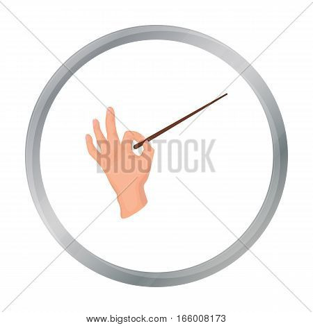 Conductor orchestra icon in cartoon style isolated on white background. Theater symbol vector illustration