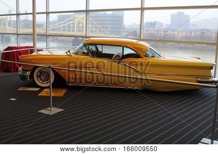 January 20th 2016 World of wheels Pittsburgh PA. 1957 Oldsmobile shown by the current owner