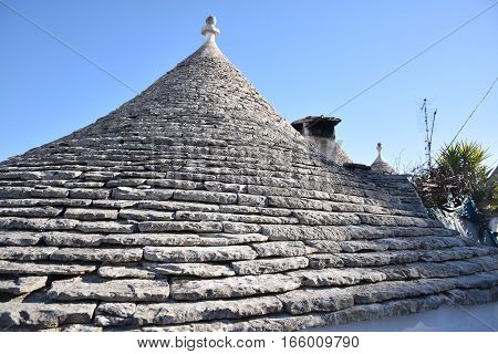 The traditional conical roof of a