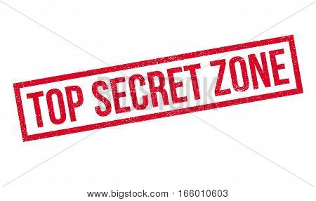 Top Secret Zone rubber stamp. Grunge design with dust scratches. Effects can be easily removed for a clean, crisp look. Color is easily changed.