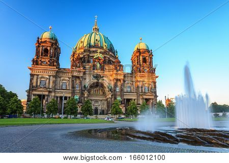 Berlin Cathedral or Berliner Dom Berlin Germany