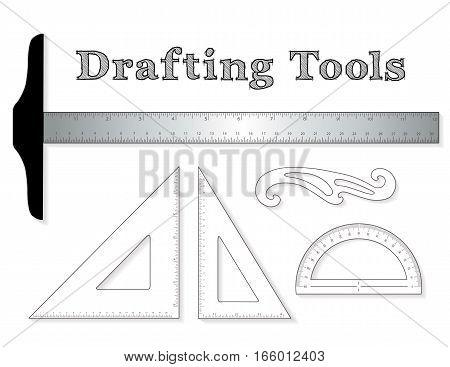 Drafting Tools Vector & Photo (Free Trial) | Bigstock