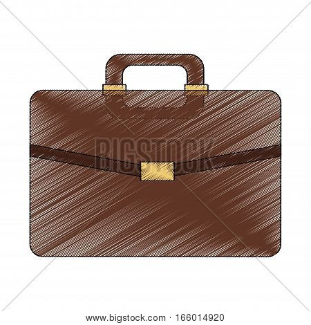 briefcase accessory icon over white background. vector illustration