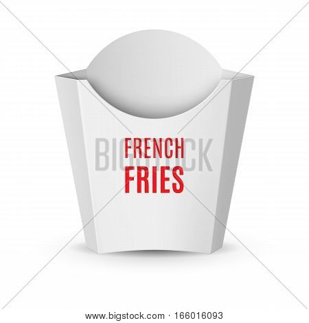 Fast Food Icon. Empty White Packaging for French Fries