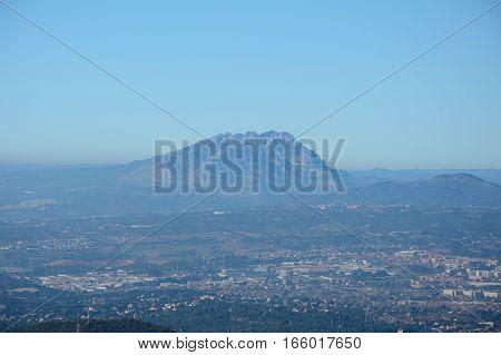 Muntanya de Montserrat mountain nearby Barcelona in Catalonia in Spain