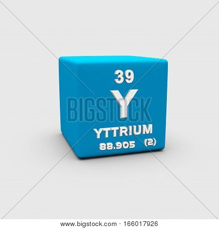 Yttrium is a chemical element with symbol Y and atomic number 39.