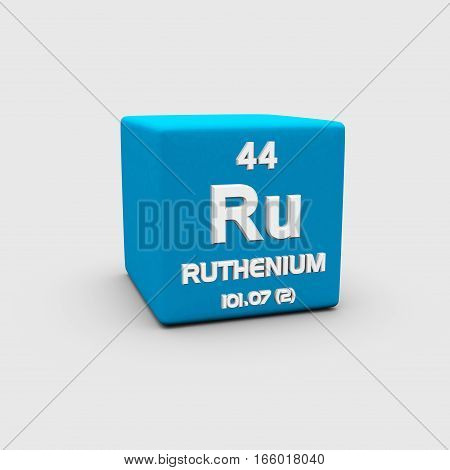 Ruthenium is a chemical element with symbol Ru and atomic number 44.