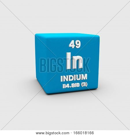 Indium is a chemical element with symbol In and atomic number 49. It is a post-transition metallic element that is rare in Earth's crust.