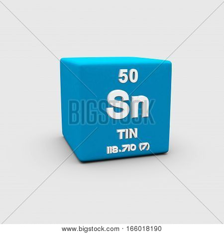 Tin is a chemical element with the symbol Sn and atomic number 50. It is a main group metal in group 14 of the periodic table.