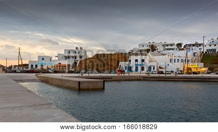 LIVADI, GREECE - JANUARY 11, 2017: Serifos island in the Aegean Sea, Greece on January 11, 2017.