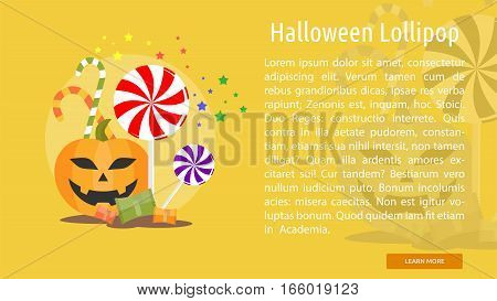 Halloween Lollipop Conceptual Banner Great flat design illustration concepts for halloween, holiday, horror, night and much more.