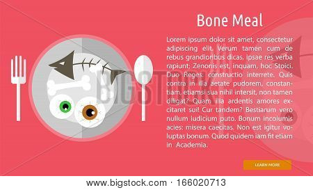 Bone Meal Conceptual Banner Great flat design illustration concepts for halloween, holiday, horror, night and much more.