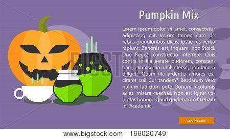 Pumpkin Mix Conceptual Banner Great flat design illustration concepts for halloween, holiday, horror, night and much more.