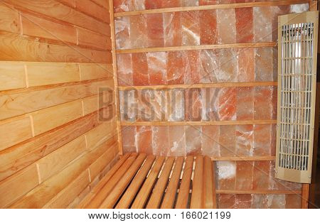 Dry Salt Sauna. An infrared himalayan salt sauna uses heaters to emit an infrared radiant for salt therapy.