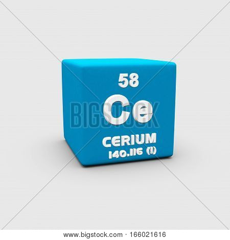 Cerium is a chemical element with symbol Ce and atomic number 58.