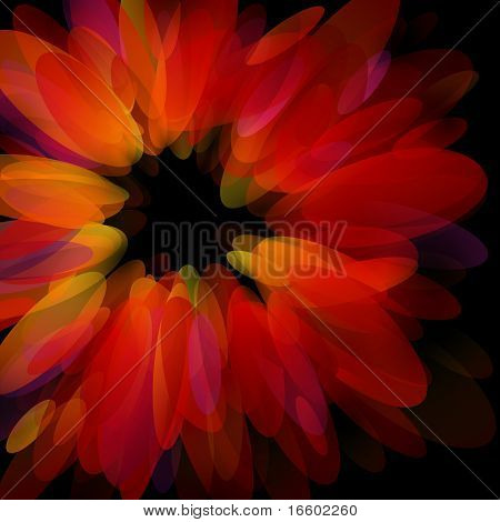 Abstract Red Petals. Vector Illustration.