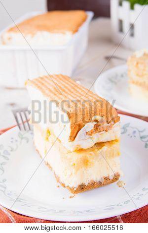 the famous frozen brazo de mercedes layered cake