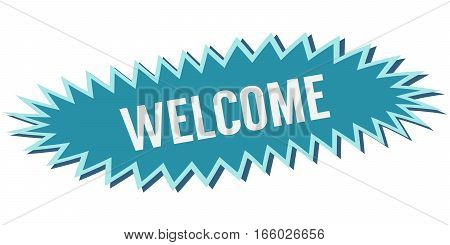 blue welcome banner, vector text welcome to design element of the site entrance greeting