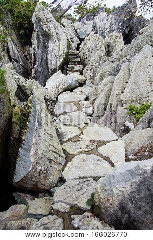 stone pathways in Masungi Reservoir, Rizal, Philippines