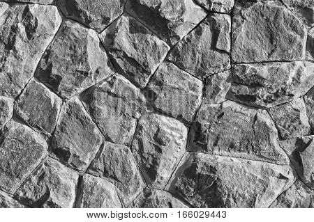 Rock wall black and white tone, for graphic resource